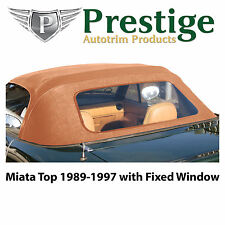 Mazda Miata NA Tan Convertible Top Soft Top Roof Non-Zippered Window 1989-97