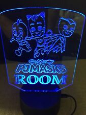 Pj Masks Led Neon Night Light Sign Game Bed Room Color Change Rgb