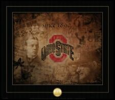 OHIO STATE BUCKEYES FOOTBALL VINTAGE GAMBLE PRINT WITH SEAL NATIONAL CHAMPIONS
