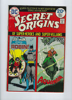 Secret Origins #7, (Oct.-Nov. 1974, DC), Batman, Robin & Aquaman, [6.5 FN+]