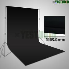 3x3.6m Photography Screen Black Muslin Backdrop Background for Studio Lighting