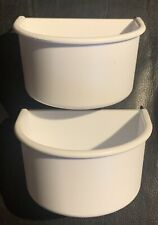 New listing Lot Of 2- You & Me Plastic White Bird Cage Cups-Size Large-Pets-New
