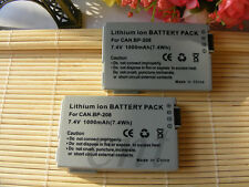 2pk BP-208 Battery Pack for Canon DV DC20 DC10 DC100 DC220 DC210 DC230 HV10