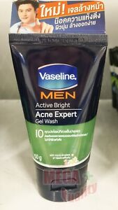 Vaseline Men Active Bright Acne Expert Gel Wash Foam Moisture Jelly 50g