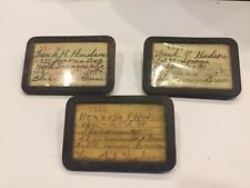 1939, 1940,1941 Vintage California Fishing License And Holders