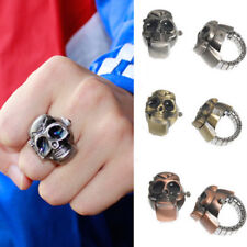 Christmas Gifts 2018 Men Fashion Unisex Skull Finger Ring Clamshell Watch Hot