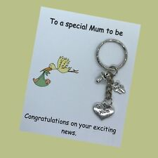 Special Mum To Be Pregnancy Expecting Handmade charm keyring baby shower gift