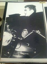Vintage James Dean Triumph Motorcycle Movie Poster Man Cave Advertising