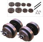 Golds Gym 40 Lb Vinyl Dumbbell Set Weights Adjustable FREE WEIGHTLIFTING GLOVES!