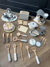 Huge Wooden Food Kitchen Bundle: Food Mixer, toaster, Birthday Cake, Utensils