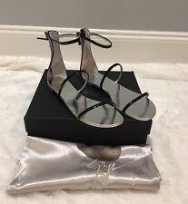 Giuseppe Zanotti Three-Strap Patent Flat Sandal, Nero 41 $650