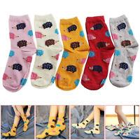Lovely Soft Women Socks Cute Cartoon Hedgehog Cotton Warm Girls Xmas Gift