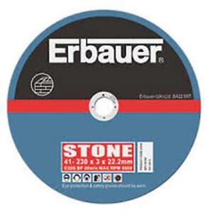 ERBAUER STONE  CUTTING DISCS 230 X 3 X 22.23MM 5 PACK