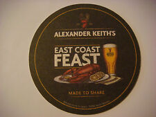 Beer Coaster ~<>~ ALEXANDER KEITH'S Nova Scotia Brewery ~ SEAFOOD FEAST ~ CANADA