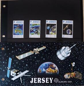 """Jersey Stamps: Jersey Europa '91 - """"Space"""" - MNH Presentation Pack 1991"""