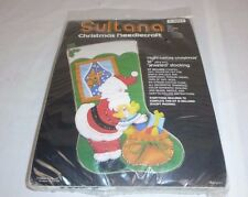 Vtg SEALED Sultana Jeweled Christmas Stocking Kit Night Before Christmas #32173