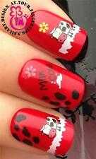 NAIL ART WATER TRANSFERS/STICKERS DECALS CUTE MOO COWS/MILK & FLOWERS #200