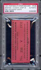1931 Portsmouth Spartans ticket for game #3 (2nd Year in NFL) -- PSA Graded.