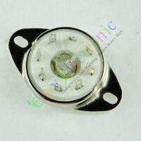 8pc silver 8pin Ceramic vacuum tube socket loctal for 5B254 audio amps guitar