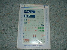 Microscale HO decals 87-298 Containers Vans PCL KS Transamerica IW Leasing  RRR