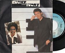 PAUL MCCARTNEY STEVIE WONDER disco 45 giri MADE in ITALY Ebony and ivory