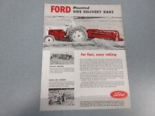 Ford Side Delivery Rake Sales Sheet    1955            lw