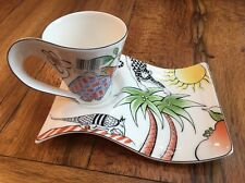 NWT Villeroy & Boch New Wave Caffe Jungle Cup/Mug plate Luxembourg Germany
