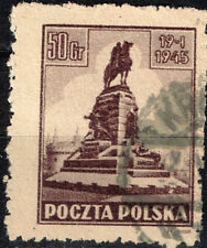 Poland Cracow Grunwald Monument 1945 stamp
