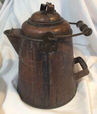 Large Antique Copper Cowboy Coffee Pot