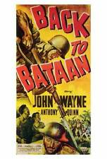 BACK TO BATAAN Movie POSTER 27x40 John Wayne Anthony Quinn Beulah Bondi Fely