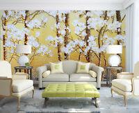 3D Fleur Arbre 33 Photo Papier Peint en Autocollant Murale Plafond Chambre Art