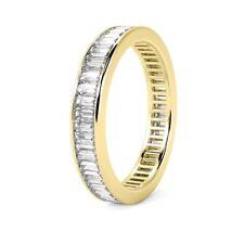 RRP £5000 D-E/VVS 2.50ct Baguette Diamond Full Eternity Ring in 18k Yellow Gold