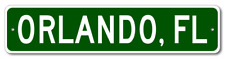 ORLANDO, FLORIDA  City Limit Sign - Aluminum