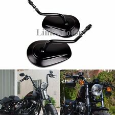 Black Shot Stem Rear View Mirrors For Harley Road King Touring XL 883 SPORTSTER