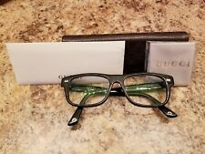 06105436f13 Pre Owned GUCCI Prescription Eye glasses GG 1080 Black Frame AUTHENTIC FREE  SHIP