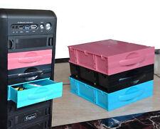 "Computer Storage Case Drive Blank Rack Drawer Box (5.25"") for CD/DVD Keys Black"