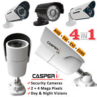CCTV 2.0/4.0MP High Resolution Bullet Camera 40M IR AHD TVI CVI 3.6mm In/Outdoor