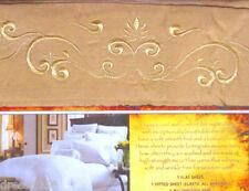 Egyptian Comfort Microfiber Bed Sheet Set, Gold, Queen Size