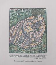 Lucien Pissarro: Gravure originale sur bois (Ronsard)
