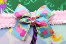 Peppa Pig Inspired Ribbon Bow Girl Toddler Handmade Headband Dress Up Costume