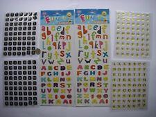 LOTTO 6 FOGLI Funky lettere dorate gelatine Abbellimenti Card Scrapbook NUOVO