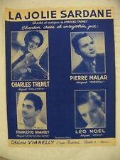 Partition La jolie Sardane Charles Trenet Grandet Noel Malar