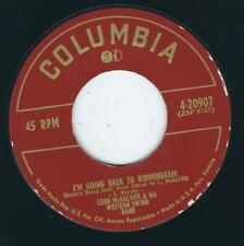 Bopper Leon McAuliffe COLUMBIA 20907 Going back Birmingham / Blacksmith blues ♫