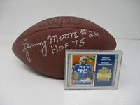 Lenny Moore Autographed Mini Football w/Reversed Stadium Card