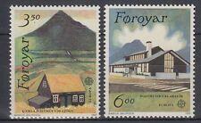 Färöer 1989 ** Mi.198/99 Gebäude Buildings | Posthaus Postamt Postoffice