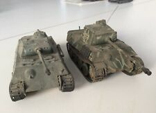 Vintage Humbrol made models - tanks - 2 Panther A tanks - WWII 1:72