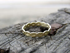 14k yellow gold wedding ring for woman.Handmade unique designed wedding ring.