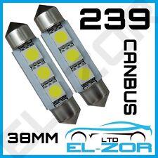 239 3SMD LED Xenón Blanco Festoon Canbus Libre De Errores Luz De Matrícula
