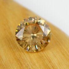 Round 11.0mm Cognac Colour Cubic Zirconia 7.98 carats Loose Gemstone