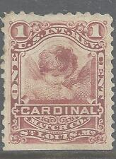 RO 58d--CARDINAL MATCHES 1 CENT PRIVATE DIE MATCH STAMP--49
